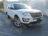 2016 White Platinum Metallic Tri-Coat Ford Explorer XLT #109273863