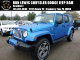 2016 Hydro Blue Pearl Jeep Wrangler Unlimited Sahara 4x4 #109306223