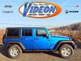2016 Hydro Blue Pearl Jeep Wrangler Unlimited Sport 4x4 #109306572