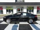 2015 Tuxedo Black Metallic Ford Fusion S #109336405