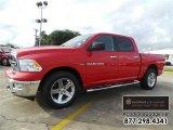 2012 Flame Red Dodge Ram 1500 Outdoorsman Crew Cab 4x4 #109336268