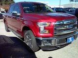 2015 Ruby Red Metallic Ford F150 Lariat SuperCrew 4x4 #109411583