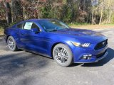 2016 Deep Impact Blue Metallic Ford Mustang EcoBoost Coupe #109411914