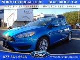 2015 Blue Candy Metallic Ford Focus SE Sedan #109411495