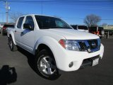 Avalanche White Nissan Frontier in 2012