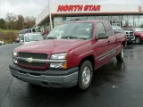 2004 Sport Red Metallic Chevrolet Silverado 1500 LS Extended Cab #10930044
