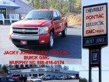 2008 Victory Red Chevrolet Silverado 1500 Z71 Extended Cab 4x4 #10935754