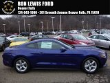 2016 Deep Impact Blue Metallic Ford Mustang V6 Coupe #109503771