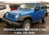 2016 Hydro Blue Pearl Jeep Wrangler Unlimited Sport 4x4 #109583034