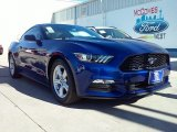 2016 Deep Impact Blue Metallic Ford Mustang V6 Coupe #109665395