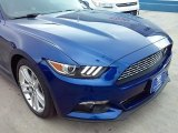 2016 Deep Impact Blue Metallic Ford Mustang EcoBoost Premium Coupe #109665427