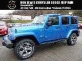 2016 Hydro Blue Pearl Jeep Wrangler Unlimited Sahara 4x4 #109689399
