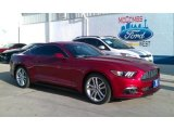 2016 Ruby Red Metallic Ford Mustang EcoBoost Premium Coupe #109834387
