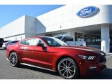 2016 Ruby Red Metallic Ford Mustang EcoBoost Premium Coupe #109834554