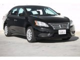 2014 Super Black Nissan Sentra S #109978625
