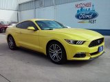 2016 Triple Yellow Tricoat Ford Mustang EcoBoost Coupe #110027940