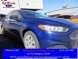 2013 Deep Impact Blue Metallic Ford Fusion S #110080680
