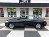 2015 Attitude Black Metallic Toyota Camry LE #110115727