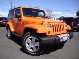 2012 Crush Orange Jeep Wrangler Sahara 4x4 #110115730