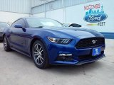 2016 Deep Impact Blue Metallic Ford Mustang EcoBoost Premium Coupe #110193558