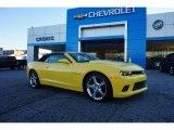 2015 Bright Yellow Chevrolet Camaro SS/RS Convertible #110193747