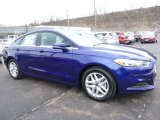 2016 Deep Impact Blue Metallic Ford Fusion SE #110193632
