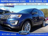 2016 Blue Jeans Metallic Ford Explorer XLT 4WD #110193479