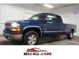 2002 Indigo Blue Metallic Chevrolet Silverado 1500 LS Extended Cab 4x4 #110220649