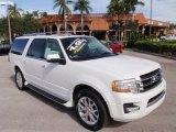 2015 White Platinum Metallic Tri-Coat Ford Expedition EL Limited #110275868
