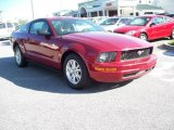 2007 Redfire Metallic Ford Mustang V6 Deluxe Coupe #11015663