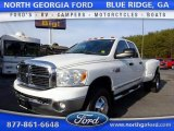 2008 Bright White Dodge Ram 3500 SLT Quad Cab 4x4 Dually #110335636