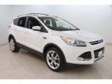 2013 White Platinum Metallic Tri-Coat Ford Escape Titanium 2.0L EcoBoost 4WD #110336092