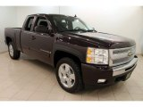2009 Dark Cherry Red Metallic Chevrolet Silverado 1500 LT Extended Cab 4x4 #110396791