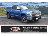 2016 Blazing Blue Pearl Toyota Tundra Limited CrewMax 4x4 #110419456