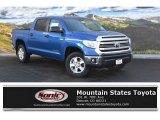 2016 Blazing Blue Pearl Toyota Tundra SR5 CrewMax 4x4 #110419453