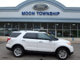 2013 White Platinum Tri-Coat Ford Explorer XLT 4WD #110550318
