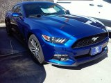 2016 Deep Impact Blue Metallic Ford Mustang EcoBoost Coupe #110550114