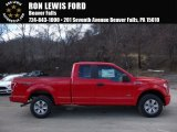 2016 Race Red Ford F150 XL SuperCab 4x4 #110586220
