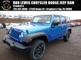 2016 Hydro Blue Pearl Jeep Wrangler Unlimited Sport 4x4 #110586255