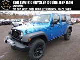 2016 Hydro Blue Pearl Jeep Wrangler Unlimited Sport 4x4 #110642447