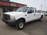 2002 Oxford White Ford F250 Super Duty XL SuperCab 4x4 #110673501