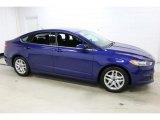 2016 Deep Impact Blue Metallic Ford Fusion SE #110673149