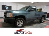 2008 Blue Granite Metallic Chevrolet Silverado 1500 Work Truck Regular Cab #110697466