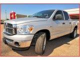 2008 Bright Silver Metallic Dodge Ram 1500 Lone Star Edition Quad Cab #11049535