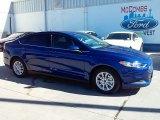 2016 Deep Impact Blue Metallic Ford Fusion S #110729470