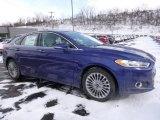 2016 Deep Impact Blue Metallic Ford Fusion Titanium #110754629