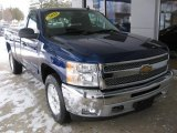 2013 Blue Topaz Metallic Chevrolet Silverado 1500 LT Regular Cab 4x4 #110781003