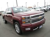 2014 Deep Ruby Metallic Chevrolet Silverado 1500 High Country Crew Cab 4x4 #110804247