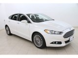 2013 White Platinum Metallic Tri-coat Ford Fusion Titanium AWD #110911687