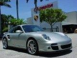 2007 Arctic Silver Metallic Porsche 911 Turbo Coupe #1106204